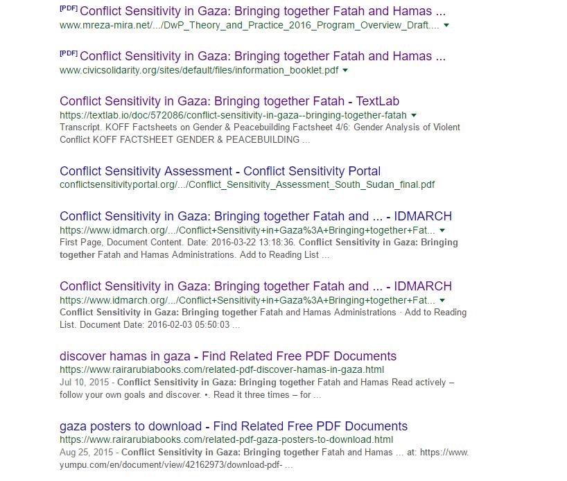 swisspeace google results