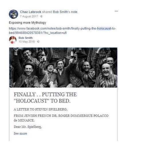 NGO Activists – Including Amnesty International – Members of Facebook Group Rife with Antisemitism and Holocaust Denial Members-of-Facebook-Group-Rife-with-Antisemitism-and-Holocaust-Denial